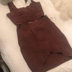 Crop skirt set